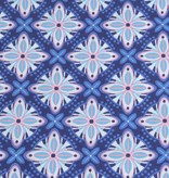 50x140 cm cotton abstract navy