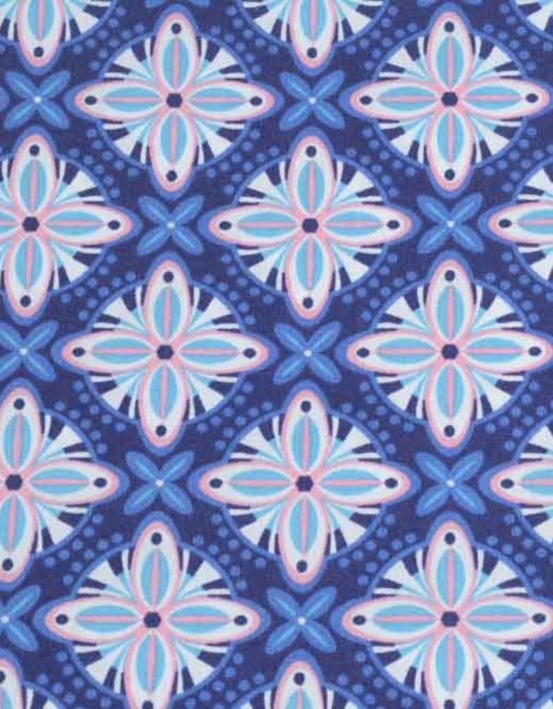 50x140 cm Baumwolle Abstrakt marine