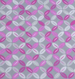 50x140 cm cotton abstract light grey/pink