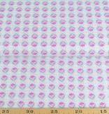 50x140 cm Baumwolle Blumen Abstrakt hellgrau/pink