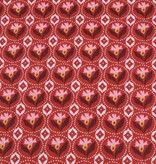 50x140 cm Baumwolle Blumen Abstrakt rot