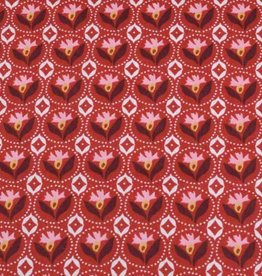 50x140 cm cotton flowers abstract red