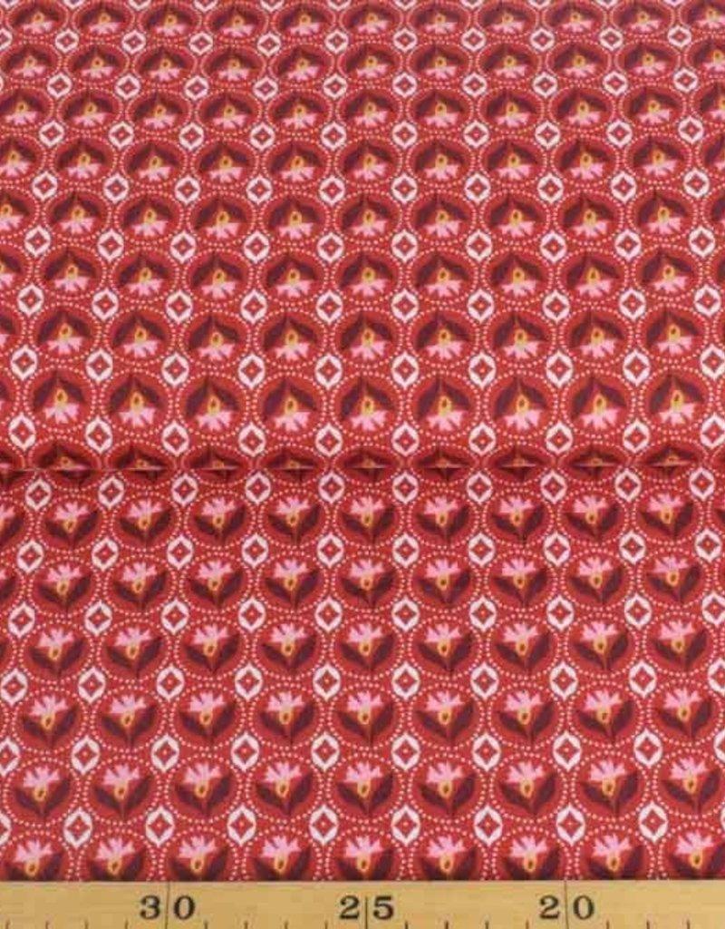 50x140 cm Dapper katoen bloemen abstract rood