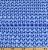 50x140 cm Baumwolle Blumen Abstrakt blau
