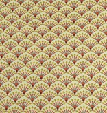 50x140 cm Baumwolle Blumen Abstrakt hellbelb