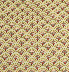 50x140 cm cotton flowers abstract light yellow
