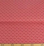 50x140 cm Dapper katoen bloempjes abstract rood