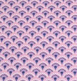 50x140 cm cotton flowers abstract pink