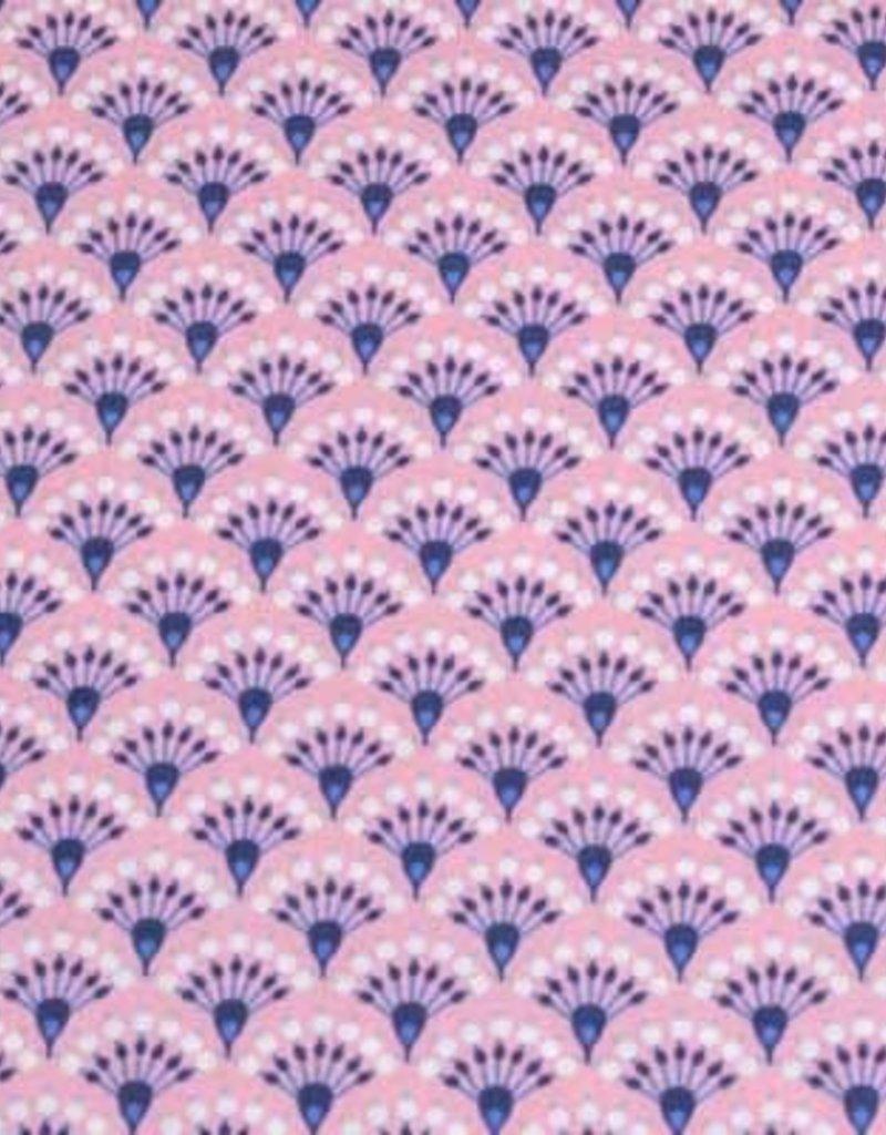 50x140 cm Dapper katoen bloempjes abstract roze