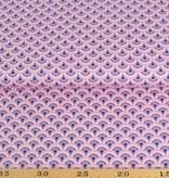50x140 cm Baumwolle Blumen Abstrakt rosa