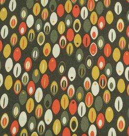 50x140 cm Dapper katoen abstract donkergroen