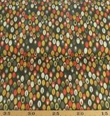 50x140 cm Baumwolle Abstrakt dunkelgrün