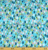 50x140 cm Dapper katoen abstract mint/aqua
