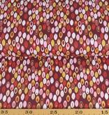 50x140 cm cotton abstract bordeaux