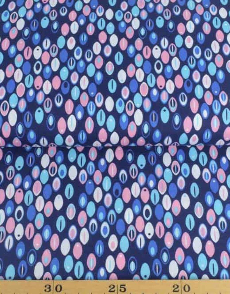 50x140 cm Dapper katoen abstract marine