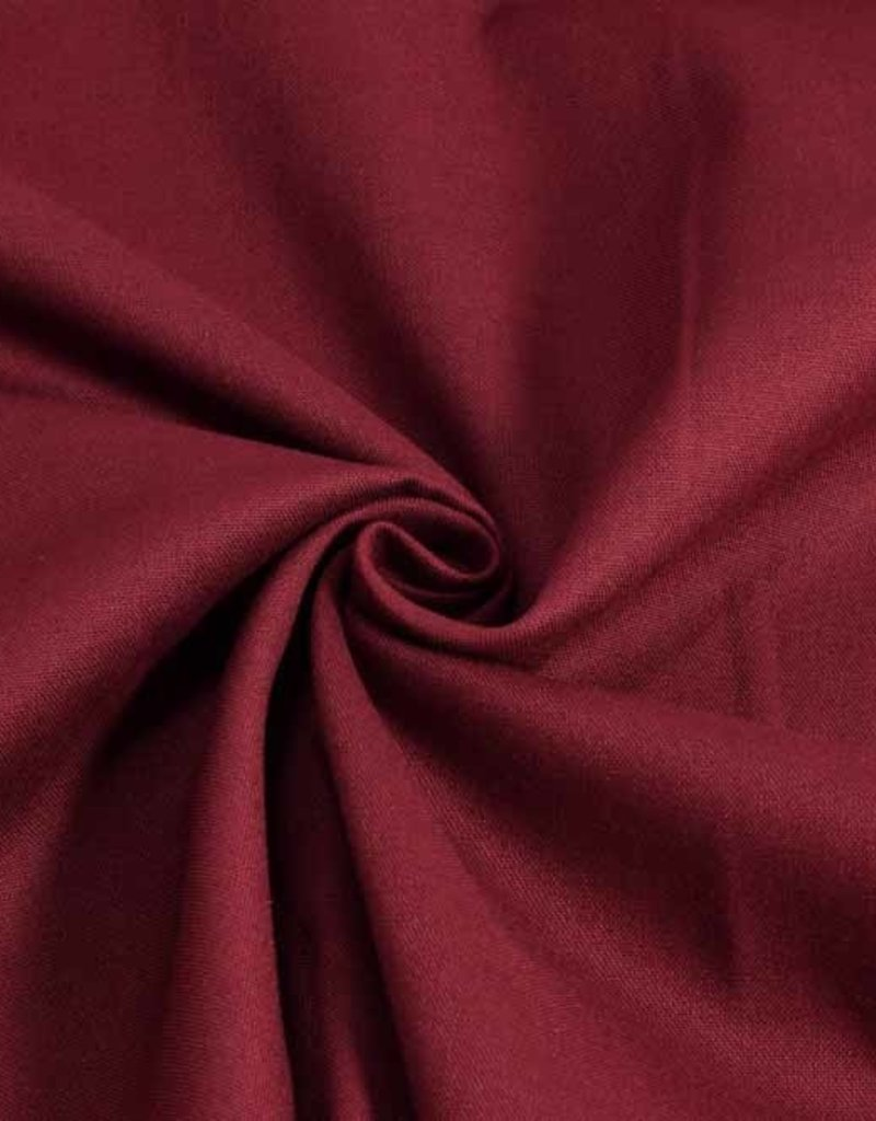 50x140 cm cotton solid bordeaux