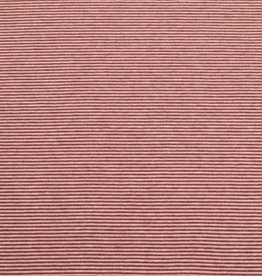 50x70 cm cuffs striped 1mm bordeaux/light pink