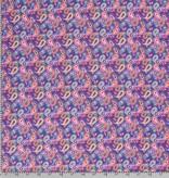 50x150 cm Cotton jersey paisley Kobalt