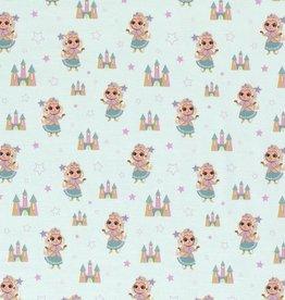 50x150 cm Cotton jersey Prinsesses Mint