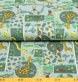 50x150 cm cotton jersey jungle blue/grey