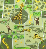 50x150 cm katoen tricot oerwoud olijfgroen