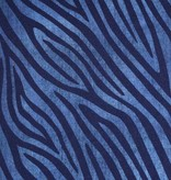 100x150 cm cotton jersey jeanslook zebra dark blue