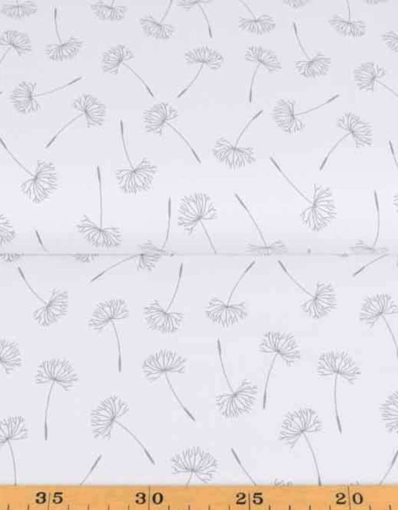 100x150 cm cotton jersey dyed, dandelions old white