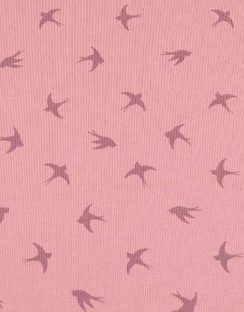 100x150 cm cotton jersey dyed, swallows old pink