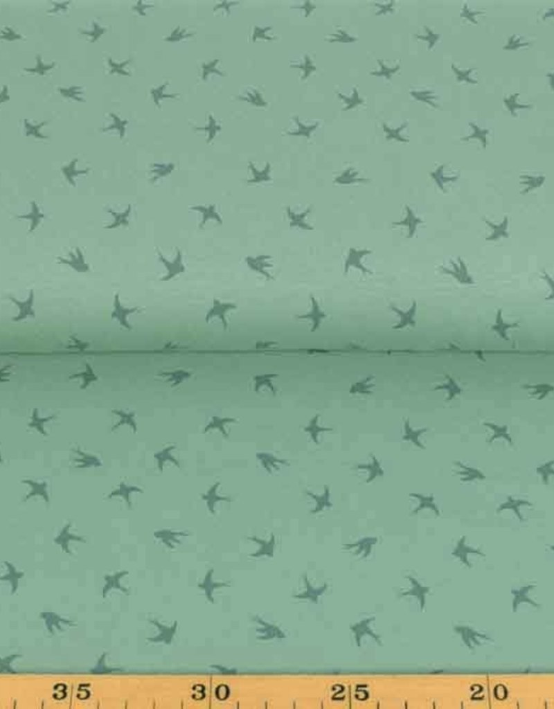 100x150 cm cotton jersey dyed, swallows old green