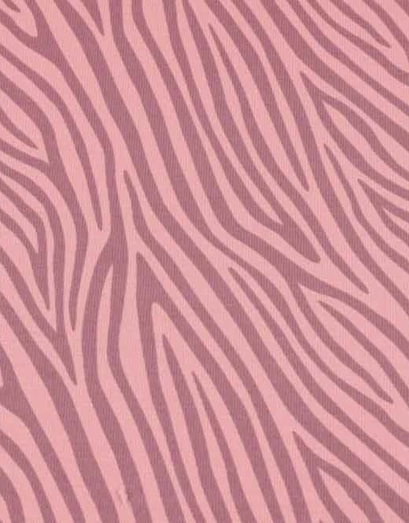 100x150 cm cotton jersey dyed, zebra old pink