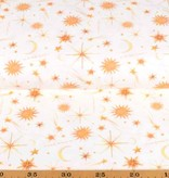 100x150 cm cotton jersey digital print sun, moon and stars offwhite