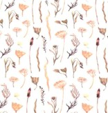 100x150 cm cotton jersey digital print twigs/flowers offwhite