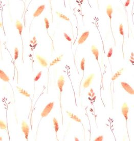 100x150 cm cotton jersey digital print twigs offwhite