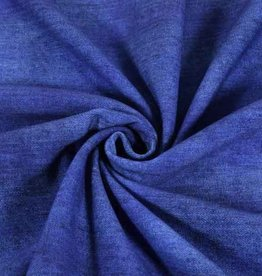 100x150 cm French Terry jeans look cobalt