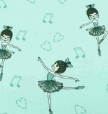 100x150 cm cotton jersey ballerinas mint