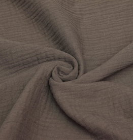 100x130 cm cotton muslin solid taupe