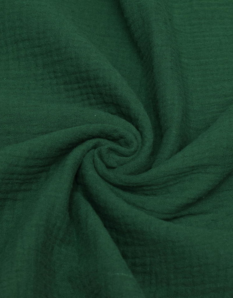 100x130 cm cotton muslin solid dark green