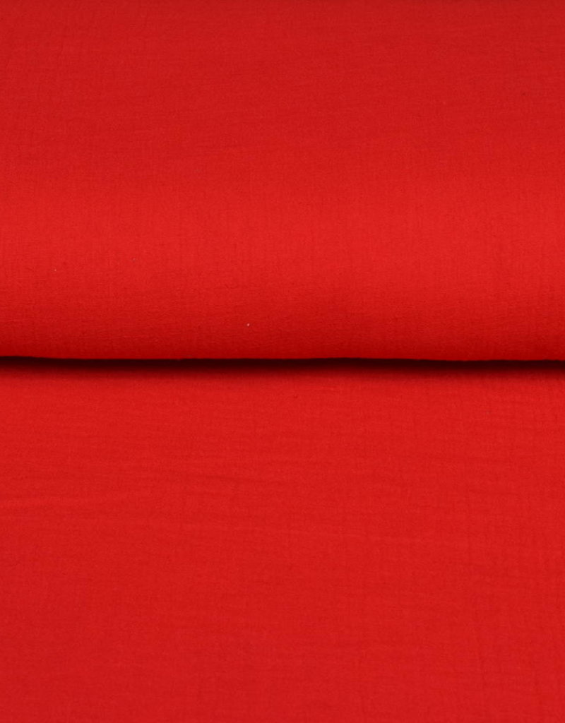 100x130 cm cotton muslin solid red