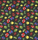 50x140 cm cotton super heroes dark green