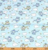 50x150 cm cotton helicopters light blue