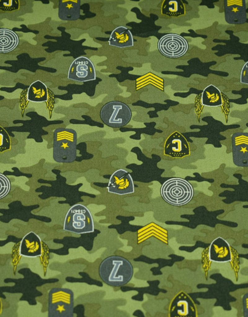 50x150 cm cotton camouflage with patches green
