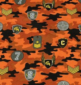 50x150 cm cotton camouflage with patches brick