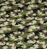 50x150 cm cotton camouflage green/beige