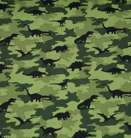 50x150 cm cotton camouflage with dinos green