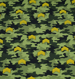 50x150 cm cotton camouflage with rank stripes green