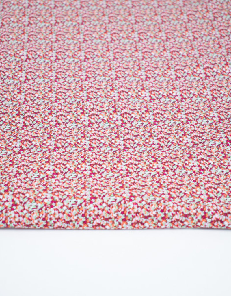 100x150 cm cotton jersey little flowers red/pink