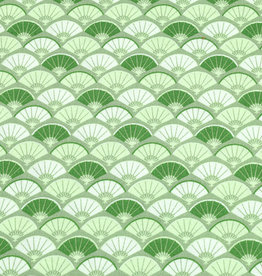 50x150 cm cotton abstract green