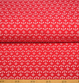 100x150 CM cotton jersey anchors red