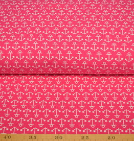 100x150 CM cotton jersey anchors pink