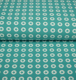 100x150 cm cotton jersey star in circle mint